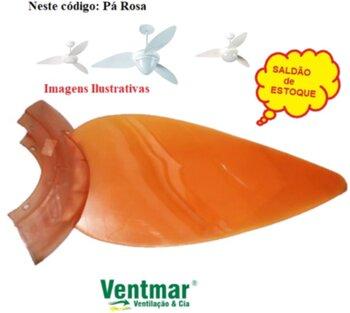 Pá Hélice para Ventilador de Teto ALISEU Tradicional - Pá Plástica cor Tangerina - Pá Aliseu Tradicional Tangerina - *Vendida p/Unidade - *SALDÃO*