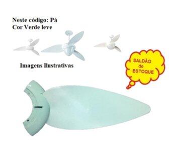 Pa Helice para Ventilador de Teto ALISEU Tradicional Verde Leve - Plastica Verde - Vendida p/Unidade - Pa Aliseu Verde *SALDÃO*
