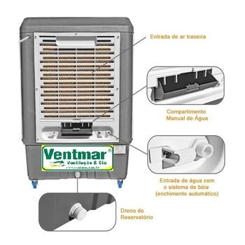 Climatizador de Ar Evaporativo Portátil 41Litros MWM M4500 220Volts - Painel Touch Screen - Vazão Real 4.500m3/h - FBOCP 0003