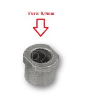 Bucha para Eixo Ventilador Britânia Ventus - Bucha de Ferro com Pescoço 8,0mm para Ventilador Importado com Frezza - Bucha p/Eixo 8,0mm