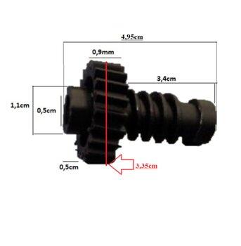Engrenagem COM Rosca Sem Fim Ventilador Arge 50/60cm A10/A11 - p/Caixa de Engrenagens Caixa Maior