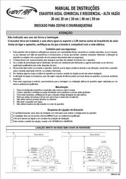 Exaustor para Churrasqueira - Diâmetro 20cm Alta Vazão 900m3/h Vent Air Bivolts B/R
