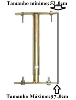 Haste Prolongadora Para Ventiladores e Luminárias - Ajustável de 53 a 97cm