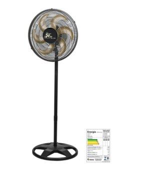 Ventilador de Coluna 40cm Venti-Delta Bivolts 140W Preto - Hélice 6Pás Grades Plásticas Oscilante de Coluna Delta Free 40cm New Chave Controle de Velo