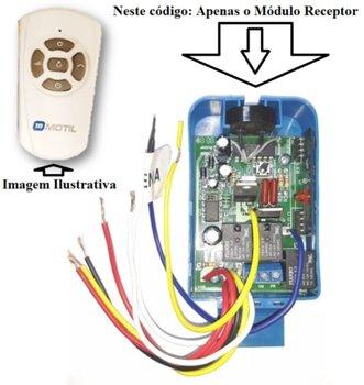 Módulo Receptor do Controle Remoto Ventilador Volare 127V GMOTIL - SEM Capacitor 3Fios - *Apenas o Módulo Receptor