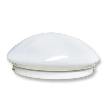 Luminária Plafon para Ventilador de Teto Volare VR42 Base Suporte Metal Branco - Vidro Fosco Encaixe 245mm - c/2-Soquetes E27