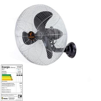 Ventilador de Parede 65cm Ventisilva Bivolts - Chave com Controle de Velocidade - Preto Grade Metal