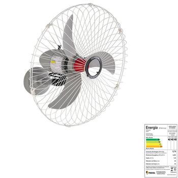 Ventilador de Parede 70cm Solaster Bivolts 150/270w Branco/Cinza - Hélice 3Pás Grade Metal - Chave com Controle de Velocidade - Veneza Plus