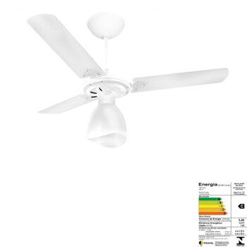 Ventilador de Teto Venti-Delta Super Delta Light 220v04,0uF 130W Branco 3Pás MDF Brancas Chave 3Velocidades - Consumo A
