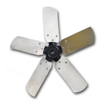 Helice para Exaustor Venti-Delta Linha Pesada 40cm 5Pas Metal - Encaixe Eixo 11mm c/Cubo c/Trava Traseira Fixada c/Parafuso Lateral