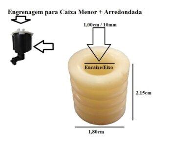 Engrenagem Rosca SEM FIM do Ventilador TRON 50/60cm - Atual Eixo 10mm p/Caixa Atual Menor + Arredondada