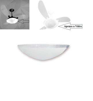 Globo Cúpula de Vidro da Luminária do Ventilador de Teto Delta SLIM - Venti-Delta SLIM Borda Cristal