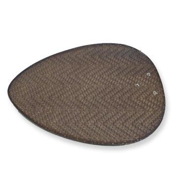 Pá Hélice para Ventilador de Teto RioPreLustres - Modelo Focus Petalo Palmae Material MDF Ratan Tabaco - *Vendida p/Unidade C39,5XL25,3CM
