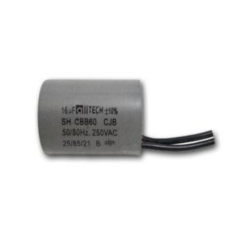 Capacitor de Partida Ventilador de Teto 16,0uF 2Fios 250VAC 50/60HZ - Capacitor de 2Fios potência 16,0uF