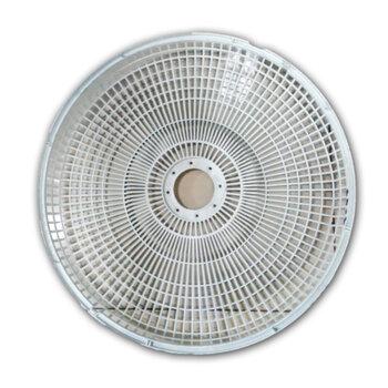 Grade Ventilador Orbital 360º Loren Sid 40cm - Grade Plástica Branca + Fechada - Serve Tanto para Dianteira ou Traseira - Vendida p/Unidade