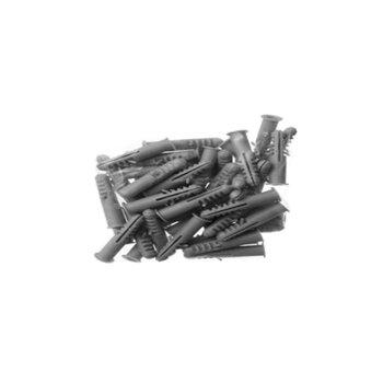 Bucha S05 - KIT 50 Peças - Bucha Plastica de Fixação numero 05 - Kit c/50-Unidades