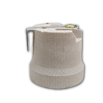 Soquete de Porcelana para Ventilador de Teto Ventisol Aires Diamond Fenix Lumiar Petalos Petit - Soquete de Porcelana c/Suporte de Fixação *Vendido p/