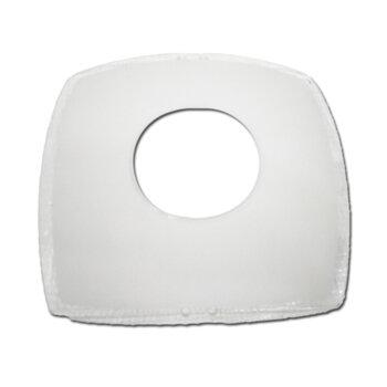 Globo Cúpula Vidro da Luminária Bruxelas Onix - Vidro Maior 300mm - Externo Quadrado Fosco c/Borda Cristal