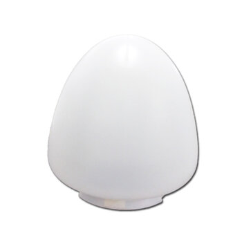 Globo Cúpula Plástica para Ventilador De Teto Aliseu Inspire Special - Ventilador Aliseu Inspire Special - Encaixe/Gola 115mm