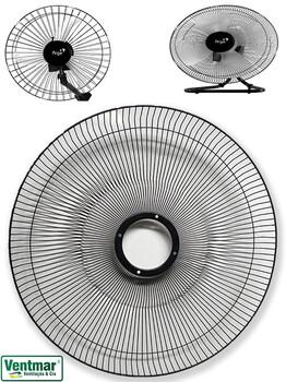 Grade Ventilador ARGE 50cm Metal Preta 132 Arames - Ventilador de Coluna 50cm - Mesa ou Parede - Vendida p/UnidadeGrade Ventilador ARGE 50cm Metal Pre