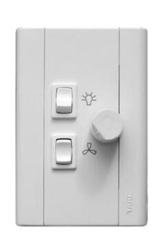 Chave para Ventilador de Teto Controle de Velocidade Dimer 0400w Rotativo - Chave Ventilador Arge - Chave Ventilador Loren-Sid e Outros...