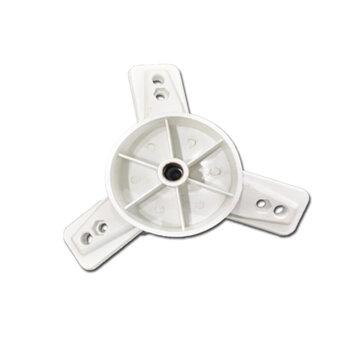 Centro da Hélice do Ventilador Ventisol Antigo 50/60cm Branca - Encaixe 12,5mm Trava c/Parafuso Lateral  - Miolo, bico de polia ou núcleo.