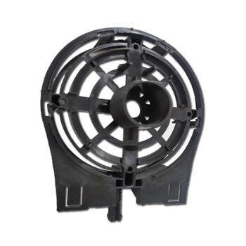 Tampa Dianteira Ventilador Ventisol Preta MX 60cm / 70cm Power MX - Anel Frontal VO PR - C/Pino c/Rosca p/Porca da Grade - Modelo p/Rol 0608