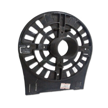 Tampa Dianteira Ventilador Ventisol Preta MX 50/60cm - Anel Frontal 0173 PLAST MX - SEM Pino c/Rosca p/Porca da Grade