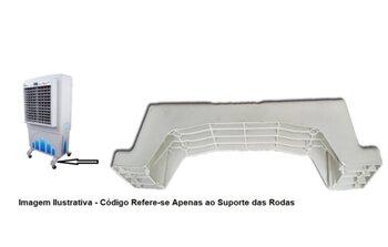 Base Suporte das Rodas Climatizador Mega Brisa MC60 MB70 - Vendido p/Unidade