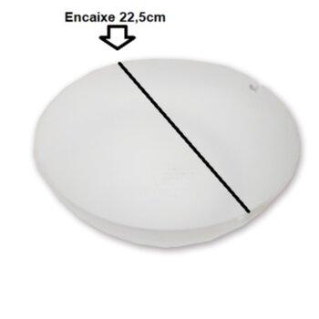 Globo Cúpula Plastica da Luminária do Ventilador de Teto SPIRIT VT202 - VT302 - Cúpula do Ventilador Spirit VT 202, VT 302 - Diâmetro Encaixe 22,5cm