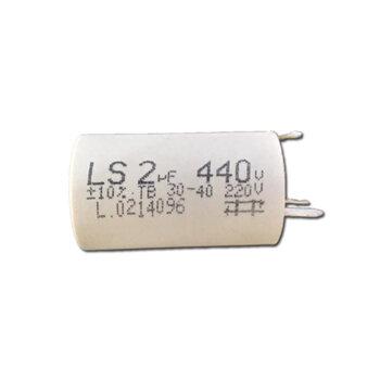 Capacitor para Ventilador de Teto Loren Sid Orbital 220Volts - Capacitor 02,0uF 440VAC 3/4 Terminais/Polos - Capacitor para Ventilador Orbital CAP002,