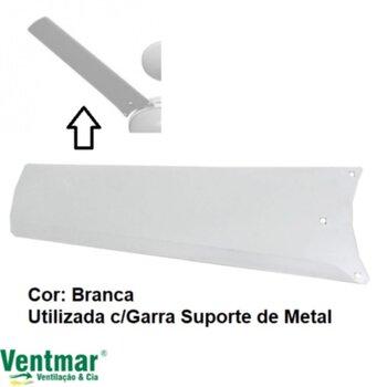 Pa Helice para Ventilador de Teto Aliseu AlisClean Branca - Utilizada c/Suporte Garra de Metal p/Fixacao - Vendida p/Unidade