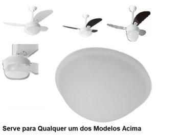 Globo Cúpula Plástica para Luminária do Ventilador de Teto Loren Sid Primor Pérola Platun Requinte - Globo Primor Pérola Platun Requinte