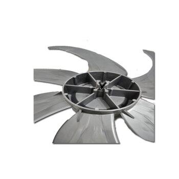 Hélice para Ventilador Loren Sid Turbo 50cm 6Pás Cinza - Ponta Redonda Encaixe 10,0mm c/Trava Traseira - Hélice para Ventilador Vitalex 50cm