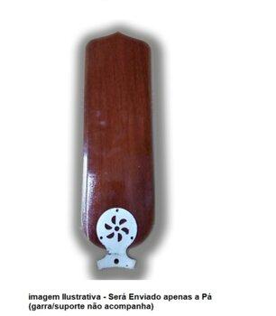 Pá Hélice para Ventilador de Teto Loren Sid Motor M1/M2 - Pá MDF Reta cor Mogno Espessura: 3,0mm Larg: 13,0cm Comp: 41,0cm - p/Garra Maior c/3 Furos