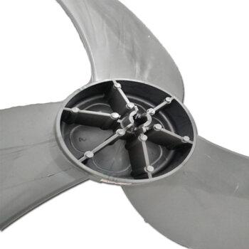 Hélice para Ventilador Loren Sid 60cm 3Pás Cinza/Prata - Ponta Redonda Encaixe 10,0mm c/Trava Traseira - Hélice para Ventilador Orbital360° 60cm