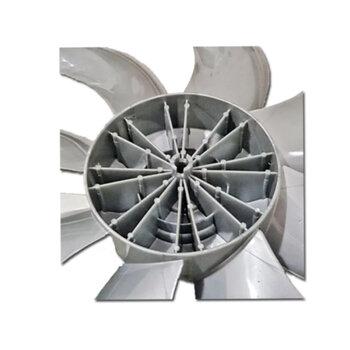 Hélice para Ventilador Mondial 50cm 8Pás Cinza - Eixo 8,0mm Ponta Redonda c/Trava Traseira - Mondial Turbo Force 8 NVT-50-8P