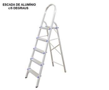 Escada de Alumínio 05 Degraus Doméstica - Real Escadas de Alumínio Residencial