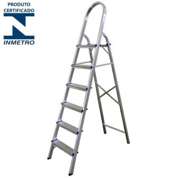 Escada de Alumínio 06 Degraus Doméstica - Real Escadas de Alumínio Residencial