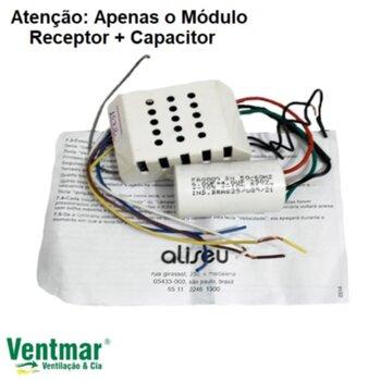 Módulo Receptor do Controle Remoto Ventilador Aliseu Duo Inspire Nano Slim Smart Wave - c/Capacitor 10,0uF 4+6mF p/Utilizar c/Kit IC55 127Volts