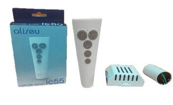 Controle Remoto para Ventilador Aliseu 127v10,0uF Kit Transmissor+Receptor IC55 - Aliseu Duo, Geo, Inspire Nano, Jet, Chapado, Slim, Smart e Wave.