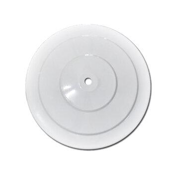 Luminária Cega para Ventilador de Teto - Plafon Metal Preto para Ventilador de Teto Cego/Sem Luminária