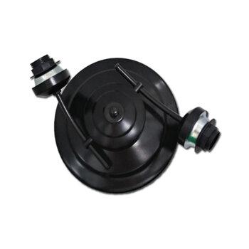 Luminária Plafon para Ventilador de Teto - Modelo Berlin2 Suporte em Metal Preto c/2Soquetes p/2Lâmpadas - SEM TULIPAS