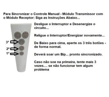 Módulo Transmissor do Controle Remoto Ventilador Aliseu DUO INSPIRE NANO SLIM SMART WAVE *Apenas o Módulo Transmissor IC-55 Bivolts*