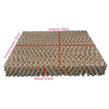 Colméia para Climatizador Ventisol Nobille CLM-10 Litros - Parte Traseira - Espessura 3,5cm x L24 x C35cm - Painel Evaporativo TRASEIRO