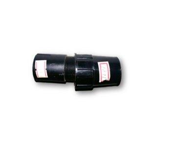 Porca Plástica Luva de Acabamento externa c/Travante Interno da Coluna do Ventilador Venti Delta 40cm Preto - Externo (Rosca 1/8 - Diâmetro