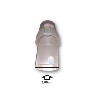 Porca Plástica Luva de Acabamento Externa c/Travante Interno da Coluna do Ventilador Venti-Delta Branco - Externo (Rosca 1/4 - Diâmetro 3,0mm)