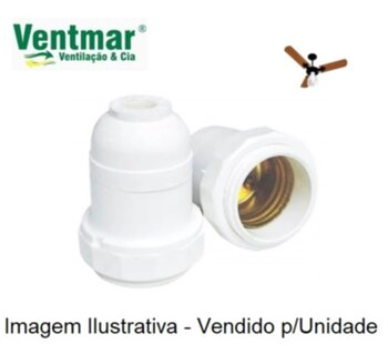 Soquete para Ventilador de Teto Venti-Delta Globo Delta Light - Soquete para Lâmpada - com Miolo/Casquilho c/Borne 0,20 - SEM Nipel de Metal