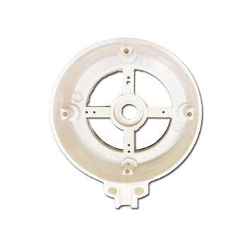 Tampa do Motor Dianteira ou Traseira para Ventilador Ventisilva 65cm VCL VPL BRANCA - Carcaça Ny  Mod.2012 DIA/TRAS c/Rebaixo FVO400