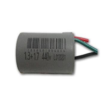 Capacitor de Partida Ventilador de Teto 3Vel 3Fios 03,0uF (1,3 + 1,7 = 03,0uF) 250VAC - p/Ventilador CAP003,0